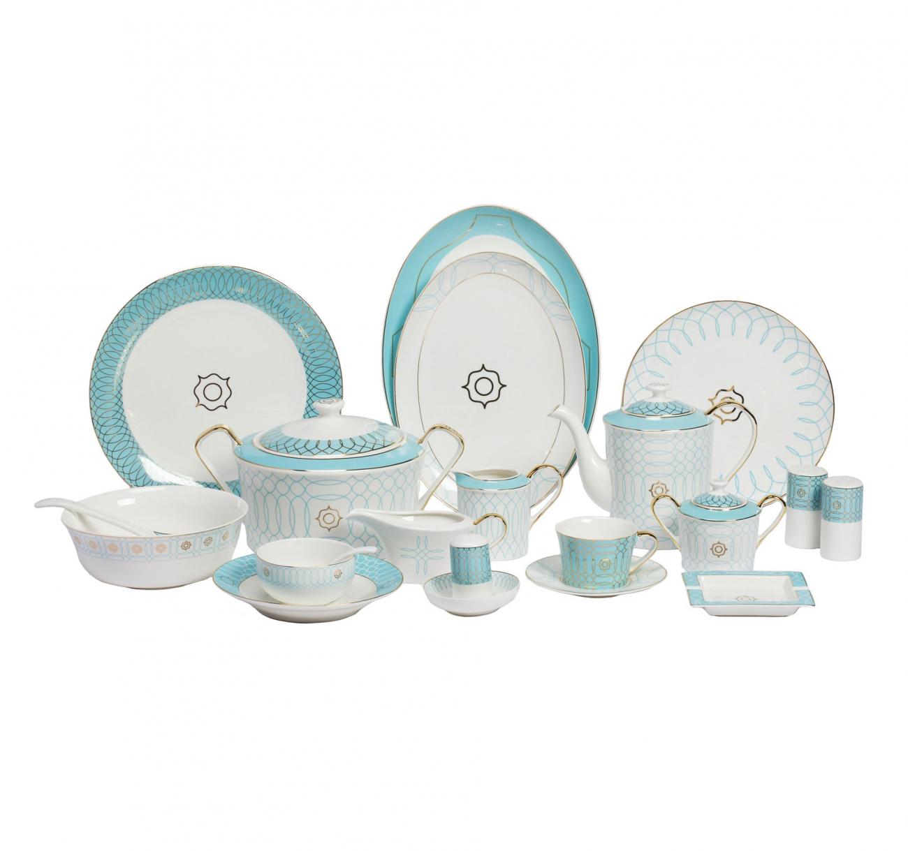 Купить Столовый сервиз Turquoise Veil в интернет магазине дизайнерской мебели и аксессуаров для дома и дачи