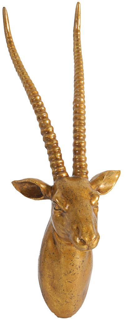 Купить Декоративная голова антилопы Cuerno Golden в интернет магазине дизайнерской мебели и аксессуаров для дома и дачи