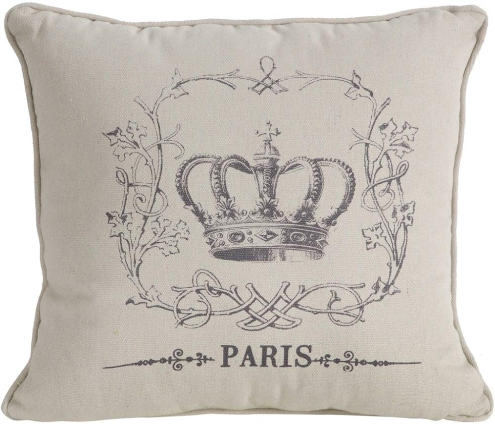Декоративная подушка с короной Your Majesty Подушки<br>Декоративная серая подушка Your Majesty III выполнена <br>строго в стиле прованс. Благодаря наволочке <br>из чистого хлопка с нанесением интересного <br>рисунка в виде короны, такой предмет декора <br>отлично впишется в ваш дом и наполнит его <br>провинциальной простотой и, в то же время, <br>уютом и французским шармом. Подушка Your Majesty <br>III станет превосходным украшением любой <br>комнаты жилого помещения в стиле прованс. <br>Подушка также будет отличным сувениром <br>и оригинальным подарком.<br><br>Цвет: Серый<br>Материал: Наволочка -100% хлопок, наполнитель - 100% полиэстер<br>Вес кг: 1,4<br>Длина см: 58<br>Ширина см: 58<br>Высота см: 10