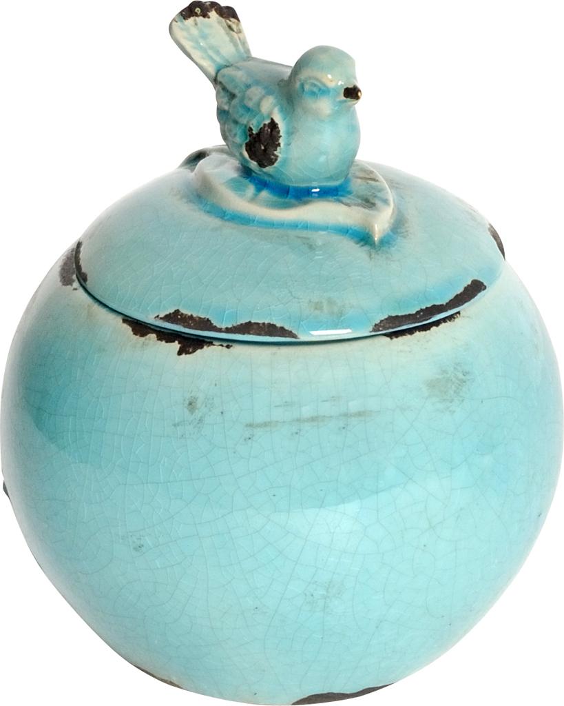 Купить Декоративная банка Furla Blue в интернет магазине дизайнерской мебели и аксессуаров для дома и дачи