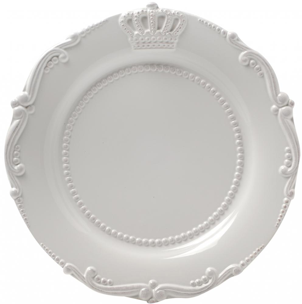 Блюдо AishaБлюда<br>Круглое белое блюдо Aisha выполнено из грубой <br>керамики, декорировано рельефным геральдическим <br>рисунком. Благодаря такому декору блюдо <br>прекрасно впишется в любую сервировку стола. <br>Блюдо можно приобрести отдельно или в комплекте <br>с другими столовыми предметами из коллекции <br>Aisha.<br><br>Цвет: Белый<br>Материал: Грубая керамика<br>Вес кг: 1,4<br>Длина см: 34<br>Ширина см: 34<br>Высота см: 5
