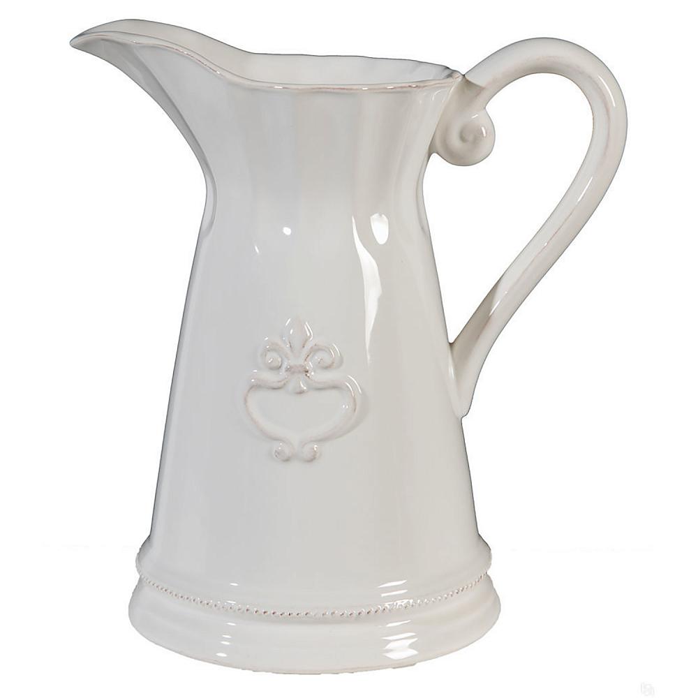 Кувшин AmurКухонные принадлежности<br>Элегантный белый кувшин Amur классической <br>формы с рельефным геральдическим декором, <br>подарит вам эстетическое наслаждение и <br>позитивный настрой. Несмотря на минимальный <br>декор, он выглядит очень элегантно и вполне <br>подойдет для украшения гостиной, кухни <br>и дачного стола. Кувшин можно приобрести <br>отдельно или в дополнение к другим предметам <br>коллекции.<br><br>Цвет: Белый<br>Материал: Керамика<br>Вес кг: 0,8<br>Длина см: 21<br>Ширина см: 14<br>Высота см: 22