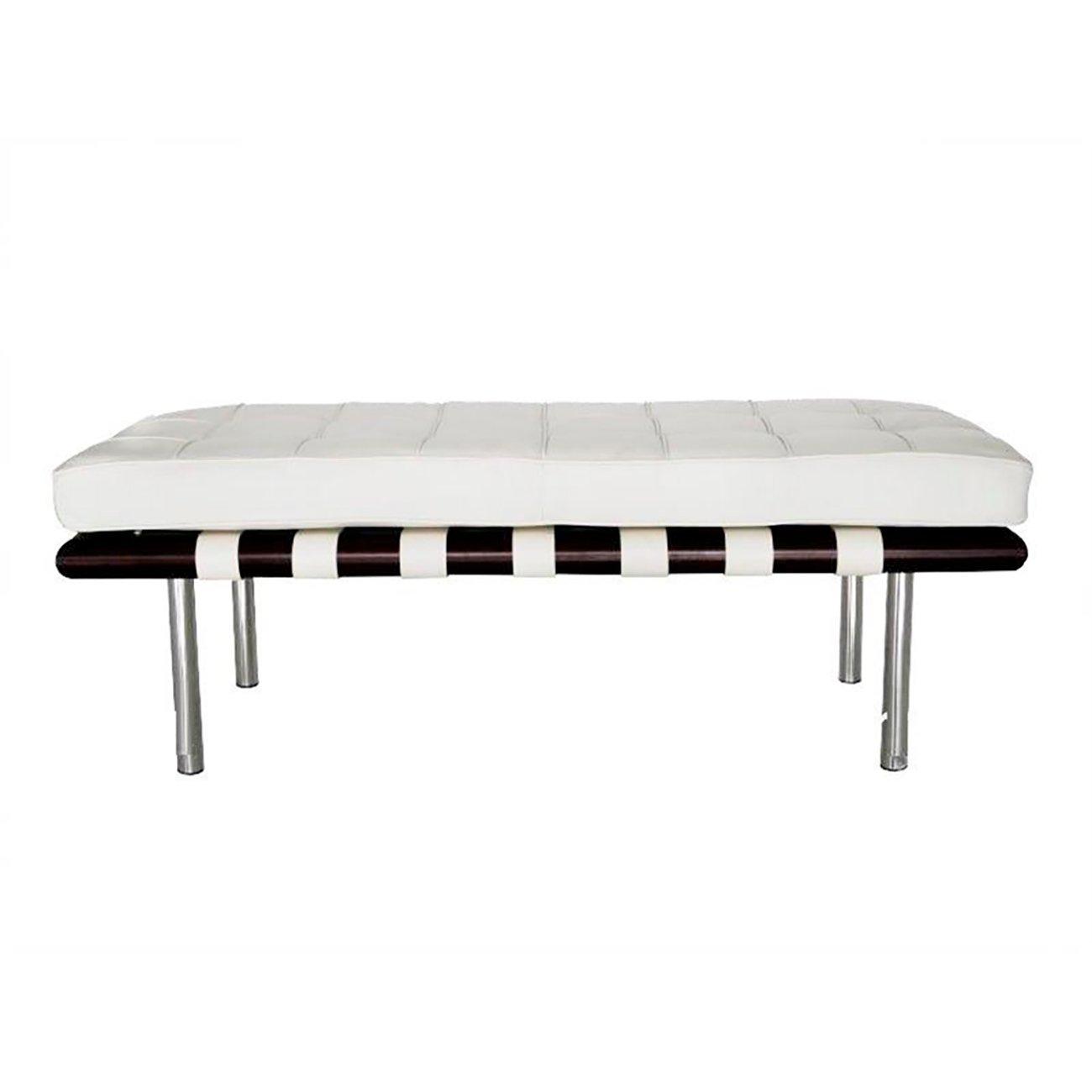 Купить Кушетка Barcelona Белая Экокожа в интернет магазине дизайнерской мебели и аксессуаров для дома и дачи