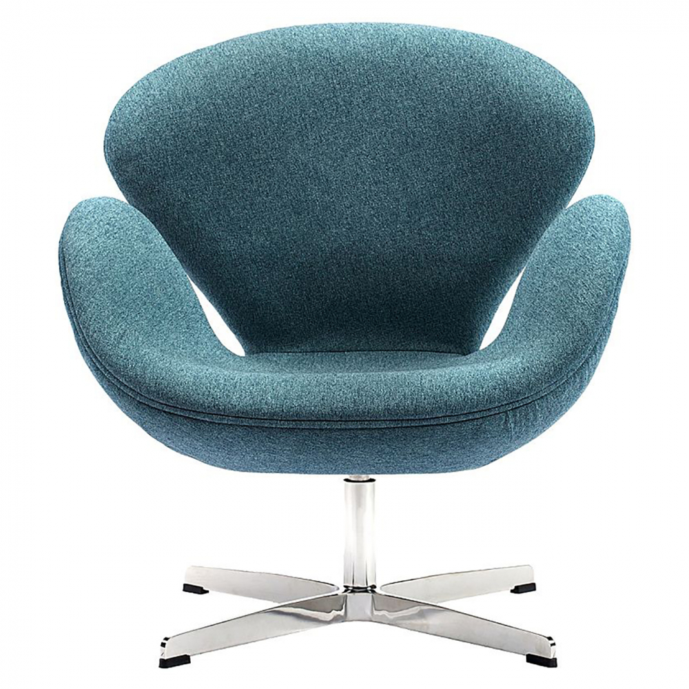Фото Кресло Swan Chair Сине-зеленая Шерсть. Купить с доставкой