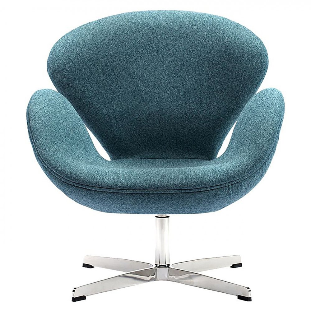 Кресло Swan Chair Сине-зеленая Шерсть, DG-F-ACH325 от DG-home