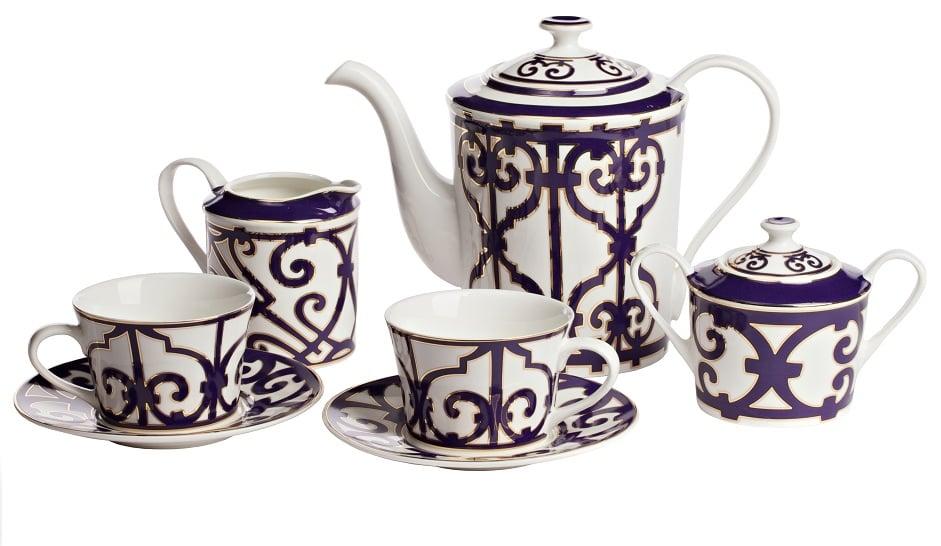 Купить Чайный сервиз Violet Dreams на 4 персоны (11 предметов) в интернет магазине дизайнерской мебели и аксессуаров для дома и дачи