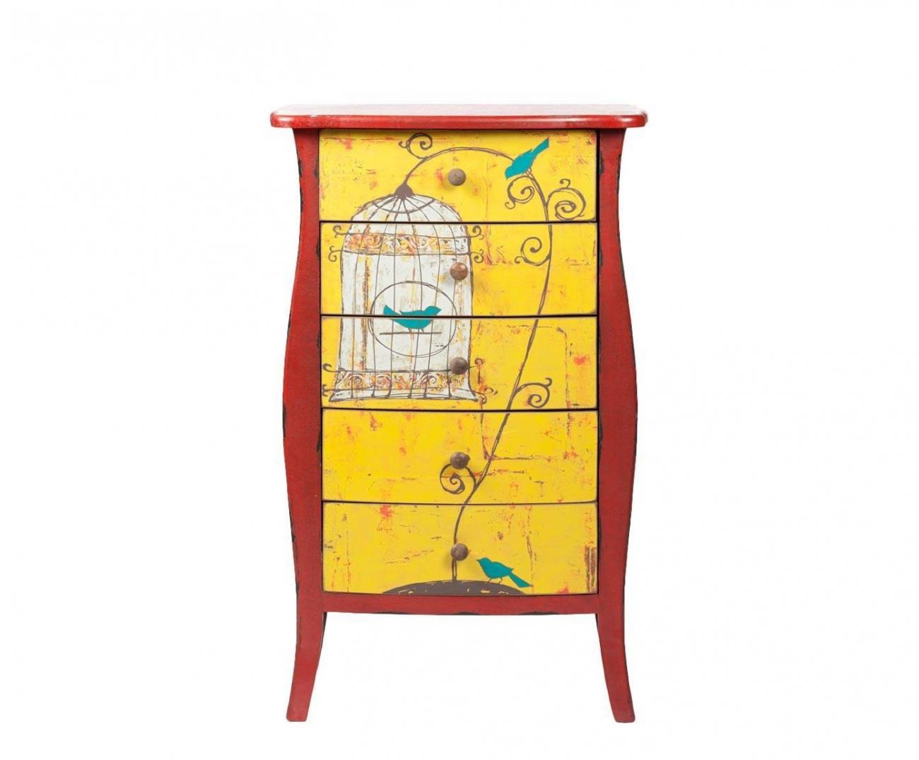 Купить Комод с 5 ящиками Birdcage в интернет магазине дизайнерской мебели и аксессуаров для дома и дачи