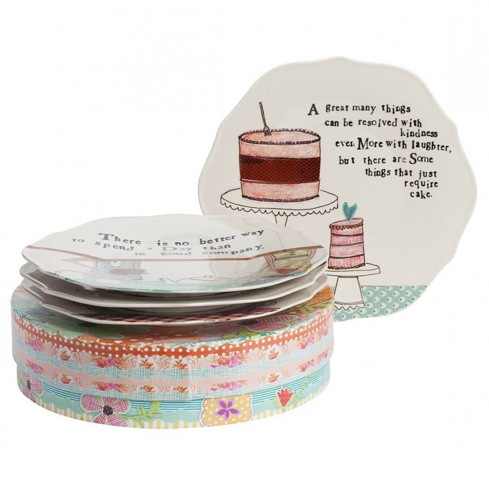 Фото Набор из 4 тарелок в подарочной упаковке  Story About Us. Купить с доставкой