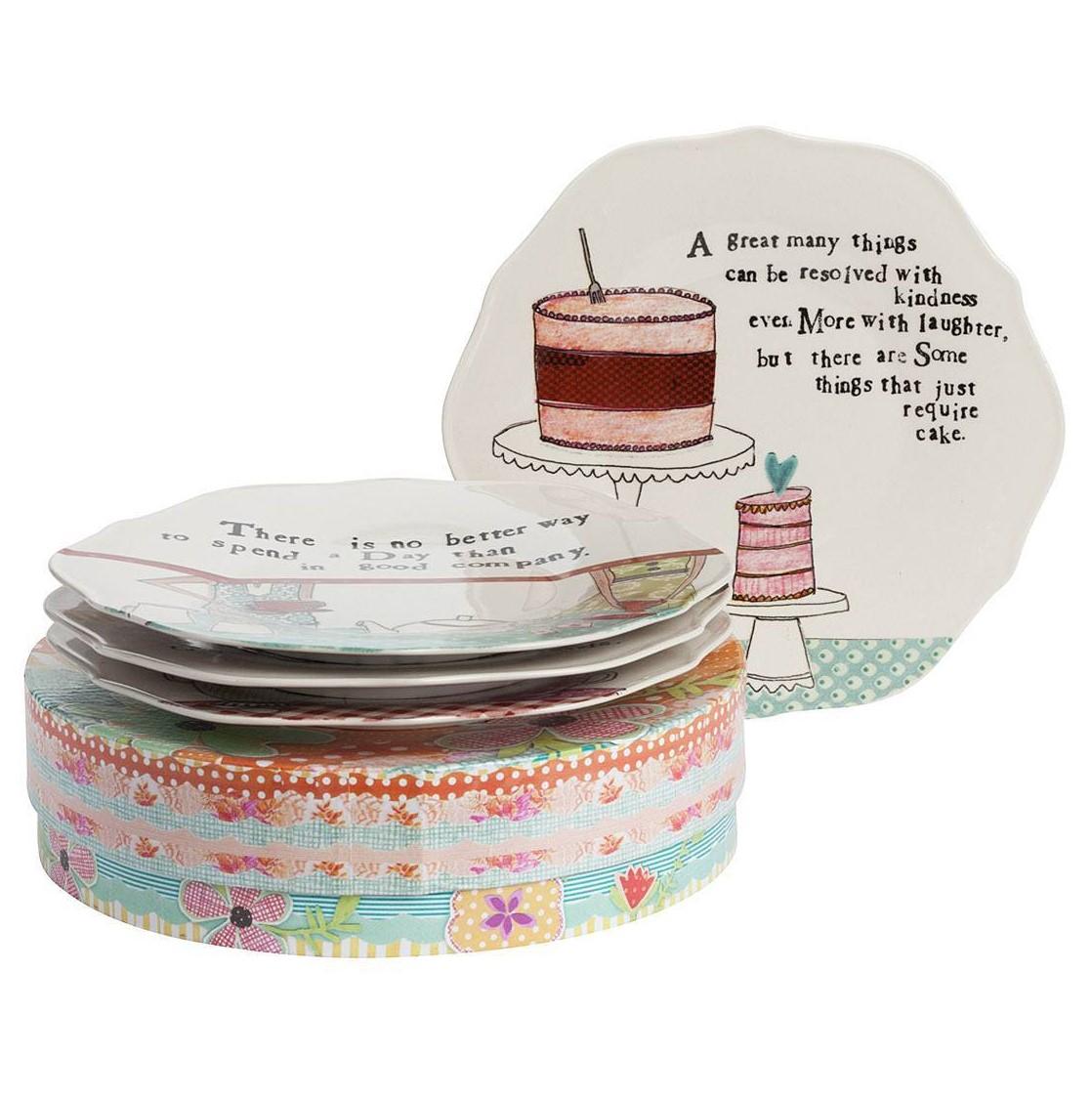 Купить Набор из 4 тарелок в подарочной упаковке Story About Us в интернет магазине дизайнерской мебели и аксессуаров для дома и дачи