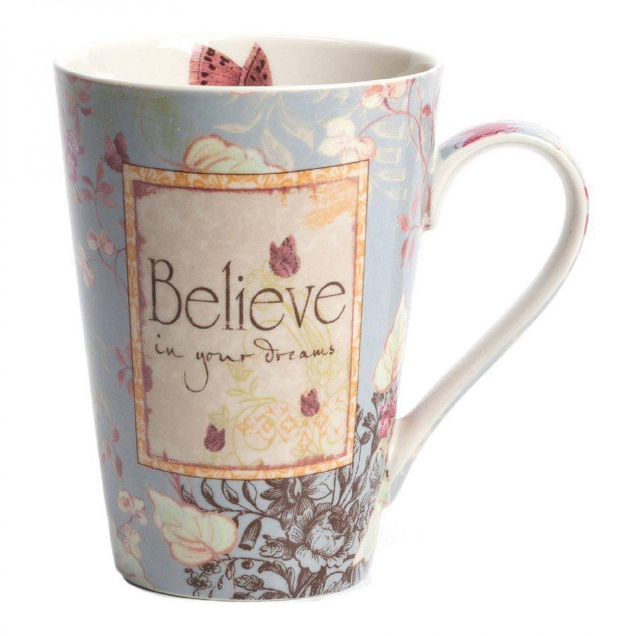Купить Кружка Believe в интернет магазине дизайнерской мебели и аксессуаров для дома и дачи