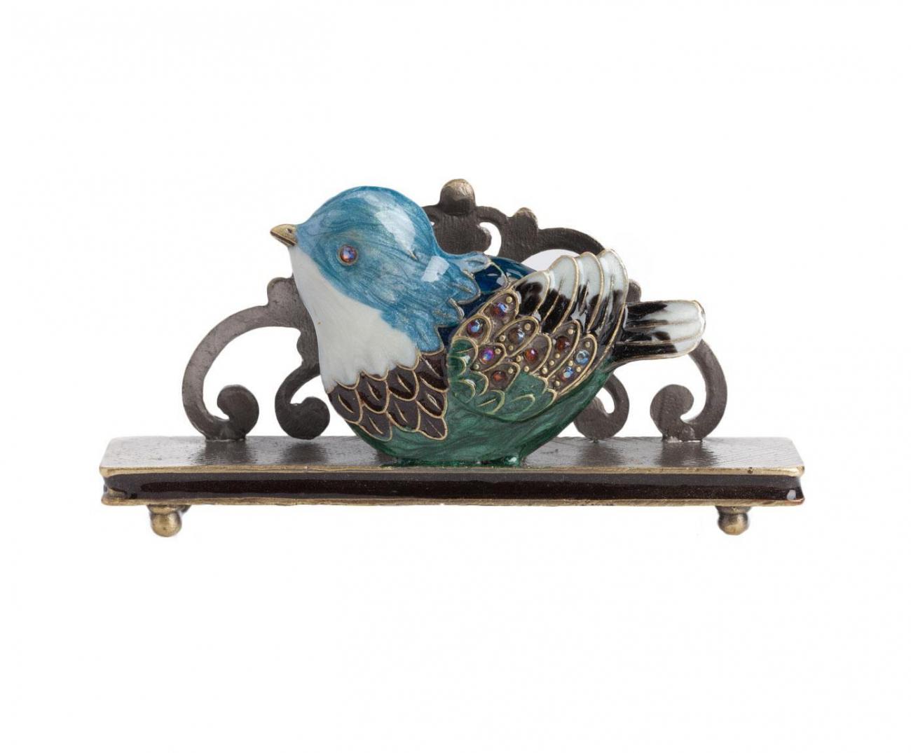 Держатель для визиток Little Bird Голубой | Декор для дома