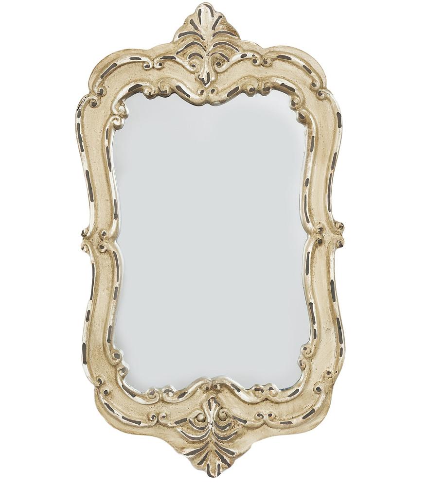 Зеркало PompeЗеркала<br>Стиль дома отражает стиль жизни его обитателей. <br>Зеркало Pompe создано для тех, кто понимает <br>толк в моде, любит комфорт, изящность, стильные <br>детали с характером и не боится экспериментировать. <br>Оно идеально дополнит интерьер вашей гостиной, <br>спальни или прихожей.<br><br>Цвет: Бежевый<br>Материал: Полирезин, Зеркало<br>Вес кг: 0,4<br>Длина см: 19<br>Ширина см: 4<br>Высота см: 28,5