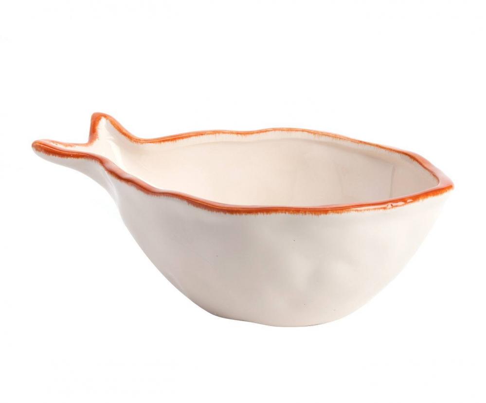 Пиала White Fish МаленькаяПиалы<br>Стиль дома отражает стиль жизни его обитателей. <br>Наша утонченная посуда создана для тех, <br>кто понимает толк в моде, любит комфорт, <br>изящность, стильные детали с характером <br>и не боится экспериментировать. Эта пиала <br>идеально подойдет для красивого оформления <br>стола.<br><br>Цвет: Белый<br>Материал: Доломит<br>Вес кг: 0,3<br>Длина см: 21