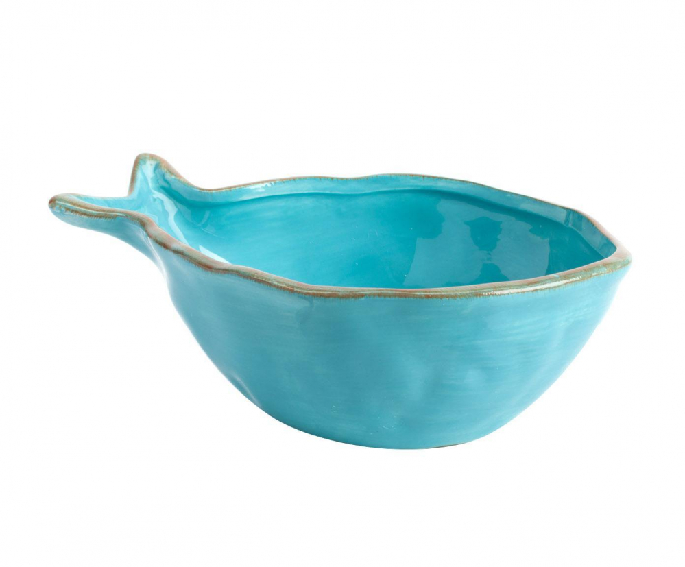 Пиала Blue Fish МаленькаяПиалы<br>Стиль дома отражает стиль жизни его обитателей. <br>Наша утонченная посуда создана для тех, <br>кто понимает толк в моде, любит комфорт, <br>изящность, стильные детали с характером <br>и не боится экспериментировать. Эта пиала <br>идеально подойдет для красивого оформления <br>стола.<br><br>Цвет: Голубой<br>Материал: Доломит<br>Вес кг: 0,3<br>Длина см: 21