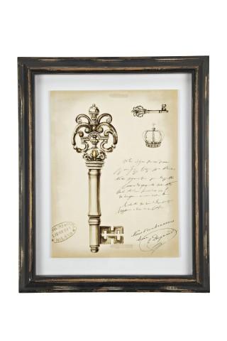 Купить Картина в рамке Queen Sketchs Key в интернет магазине дизайнерской мебели и аксессуаров для дома и дачи