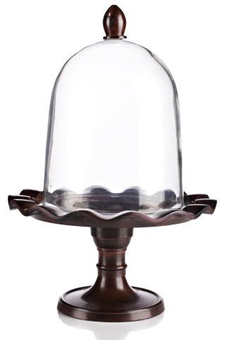 Купить Сервировочный поднос с куполом Crystal Dome Dark в интернет магазине дизайнерской мебели и аксессуаров для дома и дачи