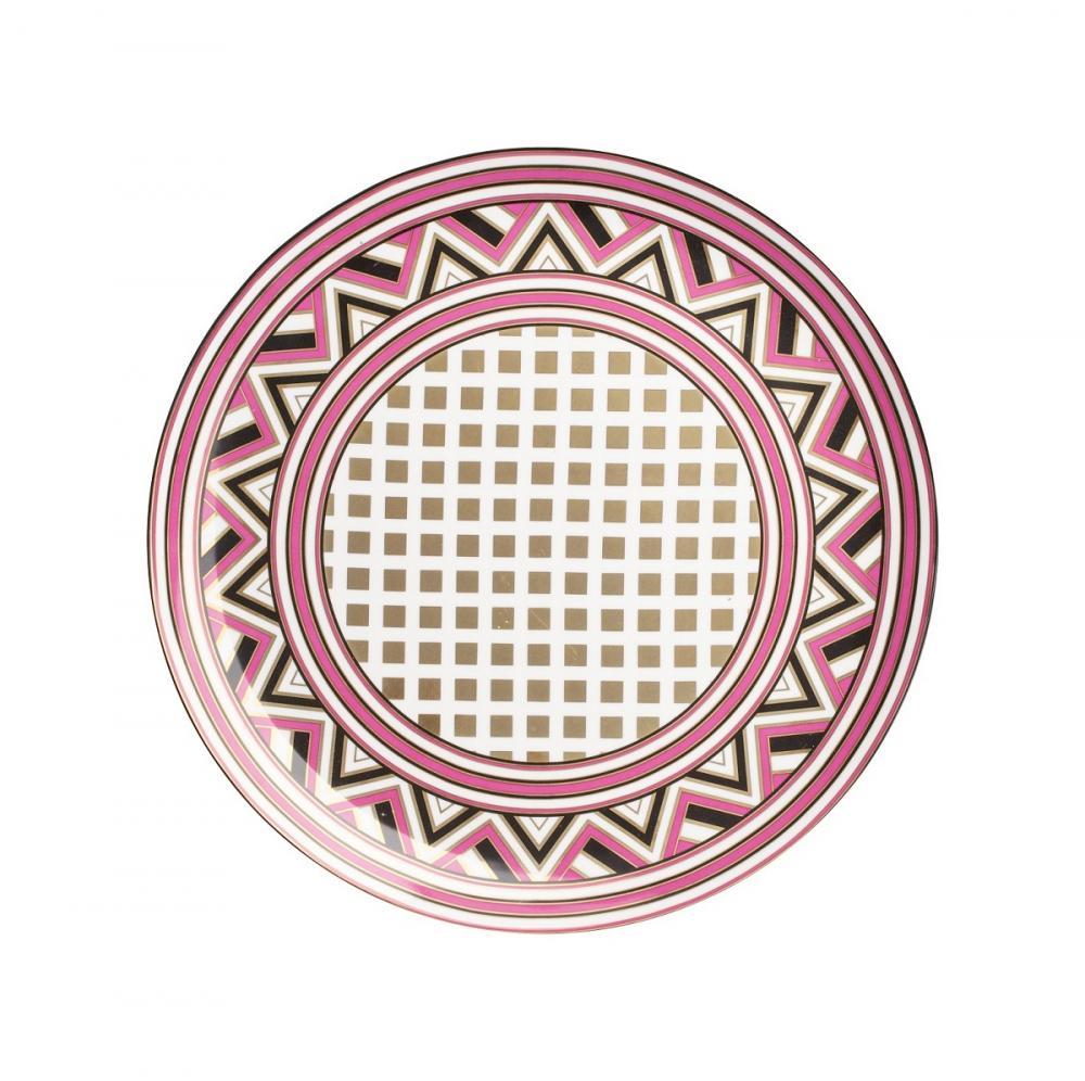 Блюдо Eclectic (32*32*2.5)Блюда<br>Блюдо из грубой керамики подойдет для нарезок. <br>В комбинации с другими столовыми предметами <br>создаст уникальную сервировку стола.<br><br>Цвет: Орнамент<br>Материал: Грубая керамика<br>Вес кг: 0,3<br>Длина см: 32<br>Ширина см: 32<br>Высота см: 2,5