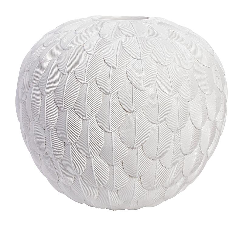 Декоративная ваза Elegant White (48*48*18)