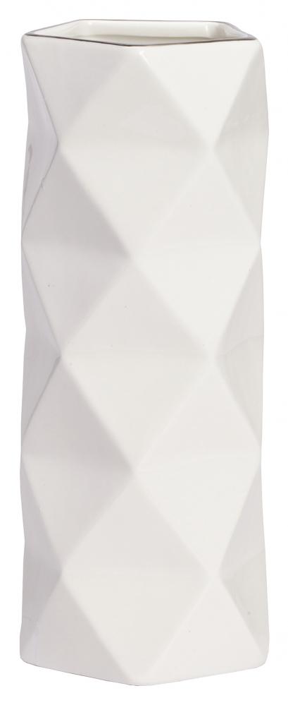 Декоративная ваза Allure Silver MediumВазы<br>Аксессуары — это изюминка любого классического <br>или современного интерьера, которые делают <br>его неповторимым и помогают заиграть по-новому. <br>Декоративная ваза Allure Silver Medium может выполнять <br>не только эстетическую, но и практическую <br>функцию: в таком предмете декора любые цветы <br>будут смотреться еще роскошнее и свежее. <br>Аксессуар изготовлен из керамики и имеет <br>весьма оригинальный дизайн. Ваза непременно <br>украсит ваш дом. Выбирайте себе или в подарок!<br><br>Цвет: Белый, Серебро<br>Материал: Керамика<br>Вес кг: 1,3<br>Длина см: 12<br>Ширина см: 12<br>Высота см: 28