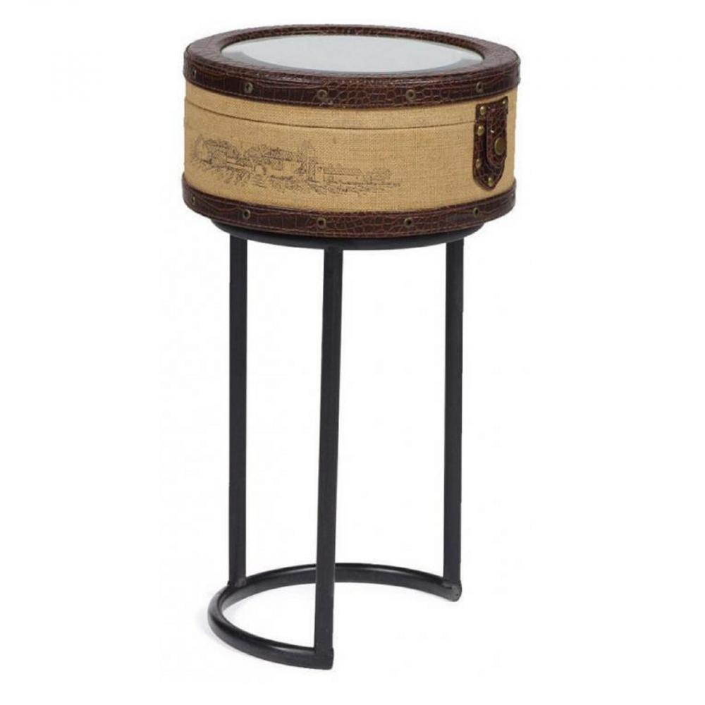 Придиванный круглый столик с зеркалом  Molto Bene Piccola