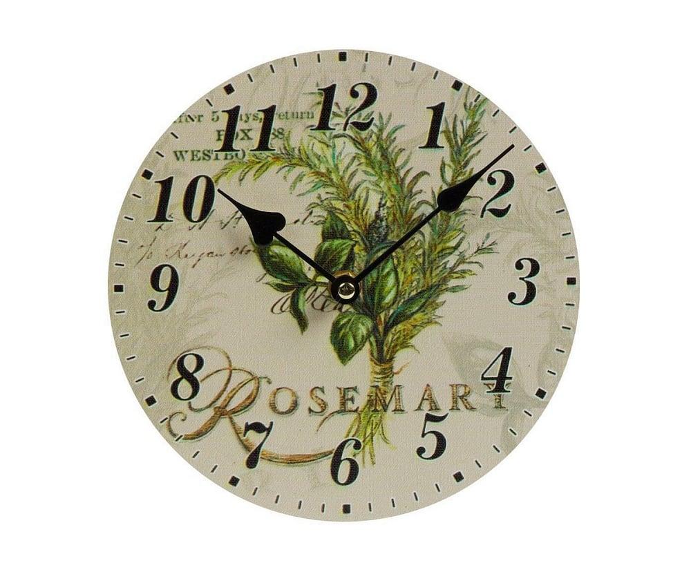 Настенные часы RosemarЧасы<br>Настенные часы Rosemary — это изысканный элемент <br>декора стен вашего дома, оформленного в <br>стиле Прованс. Благодаря краскам пастельных <br>тонов, оригинальному рисунку и простому <br>на вид циферблату, такой аксессуар удачно <br>впишется в общую картину помещения и будет <br>прекрасно гармонировать с обстановкой <br>в целом. Часы смогут добавить уюта любой <br>комнате, а также оживить её и украсить.<br><br>Цвет: Разноцветный<br>Материал: МДФ, Бумага<br>Вес кг: 0,5<br>Длина см: 20<br>Ширина см: 2<br>Высота см: 20