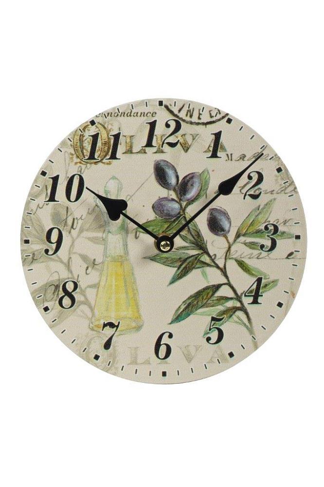 Настенные часы OliveaЧасы<br>Настенные часы Olivea — это изысканный элемент <br>декора стен вашего дома, оформленного в <br>стиле Прованс. Благодаря краскам пастельных <br>тонов, оригинальному рисунку и простому <br>на вид циферблату, такой аксессуар удачно <br>впишется в общую картину помещения и будет <br>прекрасно гармонировать с обстановкой <br>в целом. Часы смогут добавить уюта любой <br>комнате, а также оживить её и украсить.<br><br>Цвет: Разноцветный<br>Материал: МДФ, Бумага<br>Вес кг: 0,6<br>Длина см: 20<br>Ширина см: 2<br>Высота см: 20