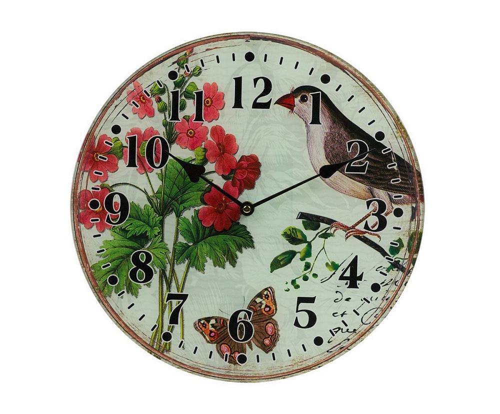 Настенные часы FleurЧасы<br>Настенные часы Fleur — это изысканный элемент <br>декора в стиле Прованс. Приятные пастельные <br>тона, растительные мотивы, милые птицы, <br>винтажный вид — все это позволяет аксессуару <br>удачно гармонировать с общей картиной помещения, <br>наполняя его деревенским очарованием и <br>шармом. Такие часы несомненно станут удачным <br>приобретением для себя или же прекрасным <br>подарком близкому человеку.<br><br>Цвет: Разноцветный<br>Материал: Стекло<br>Вес кг: 0,8<br>Длина см: 33<br>Ширина см: 4<br>Высота см: 33