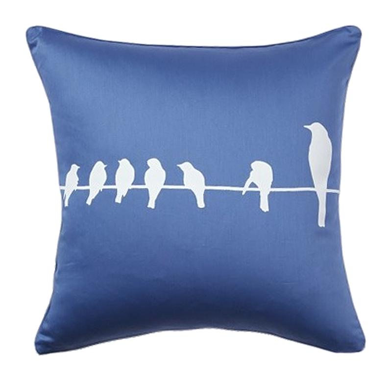 Подушка с птичками Birdies On A Wire Diamond-Blue