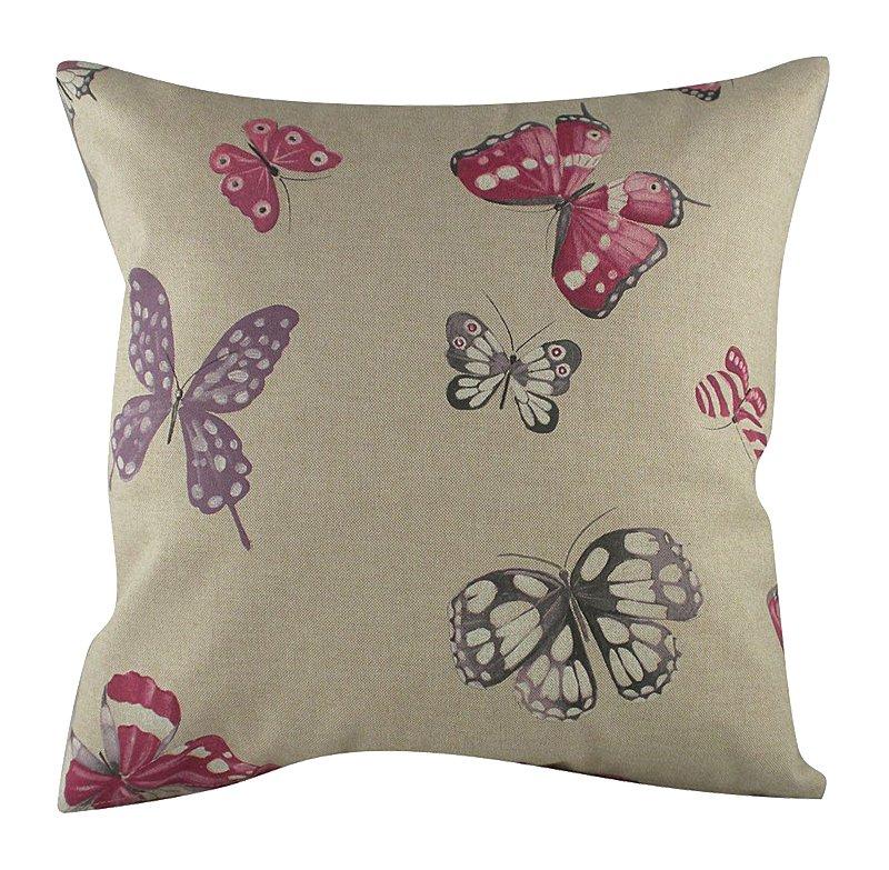 Подушка с бабочками Pink Butterflies, DG-D-PL221