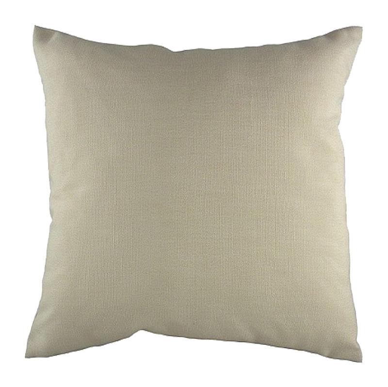 Однотонная светло-серая подушка Beige