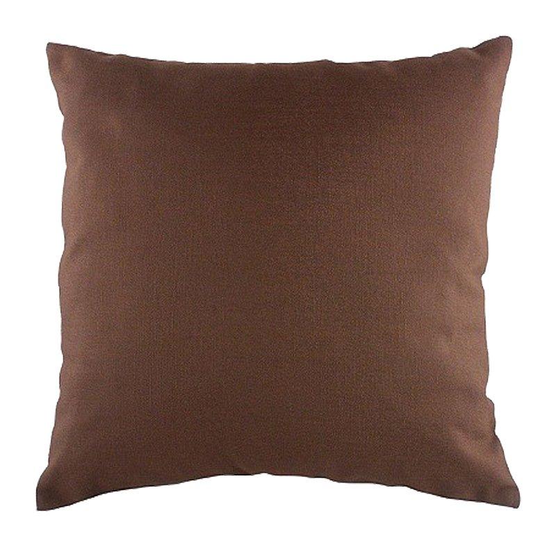 Однотонная коричневая подушка Brown