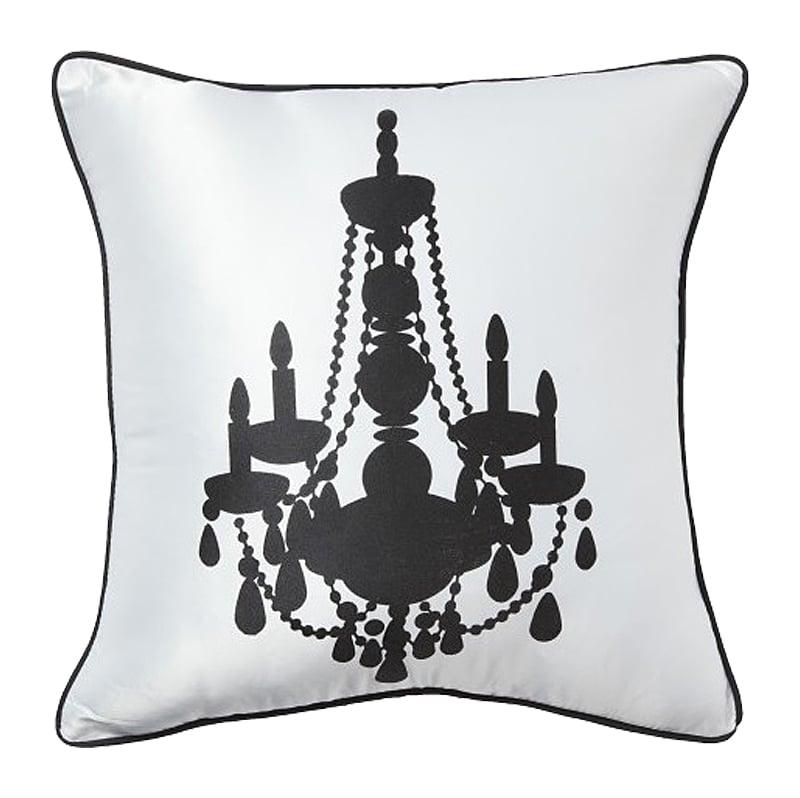 Купить Подушка с канделябром Chandelier II White в интернет магазине дизайнерской мебели и аксессуаров для дома и дачи
