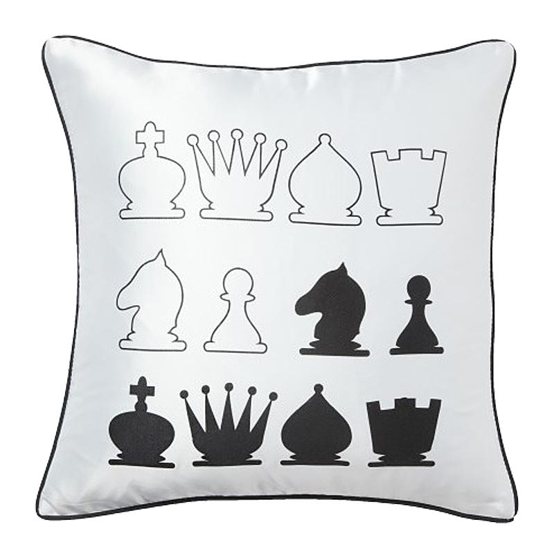 Подушка с шахматами Chess White