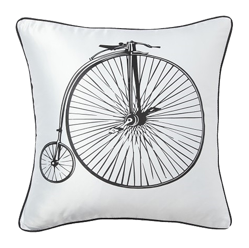 Подушка с ретро-велосипедом Retro Bicycle White, DG-D-PL22W