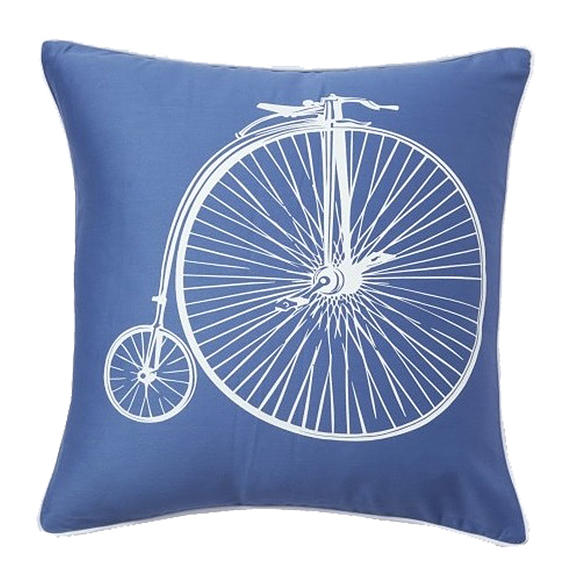 Подушка с ретро-велосипедом Retro Bicycle Blue, DG-D-PL23B