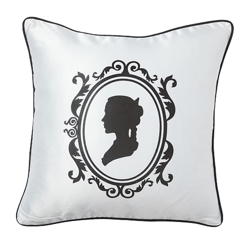Подушка с принтом Ladies' Profile White