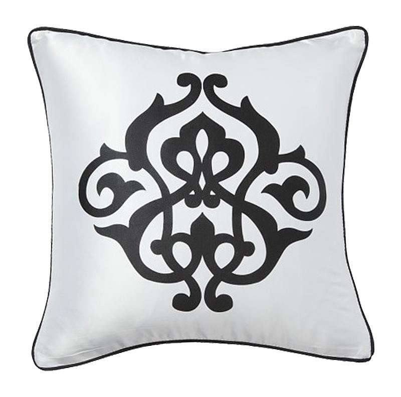 Подушка с геральдическими лилиями Fleur de Lys White I