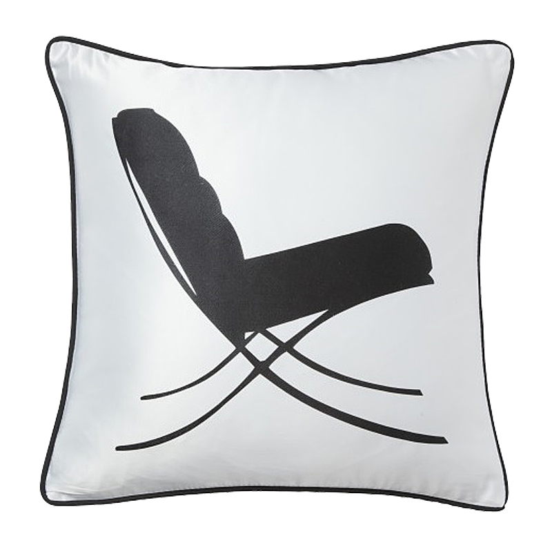 Подушка с креслом-качалкой Japanese Lounge WhiteПодушки<br>Белая элегантная подушечка с черным креслом-качалкой <br>в японском стиле Japanese Lounge White символизирует <br>покой, уют и негу, является важным компонентом <br>убранства дома. Так и хочется расслабиться, <br>откинуться в кресле, закрыв глаза. Подушка <br>выгодно подчеркнет любой стиль интерьера. <br>Подушка также будет отличным сувениром <br>и оригинальным подарком.<br><br>Цвет: Белый<br>Материал: 65% хлопок, 35% полиэстер<br>Вес кг: 0,4<br>Длина см: 43<br>Ширина см: 43<br>Высота см: 10