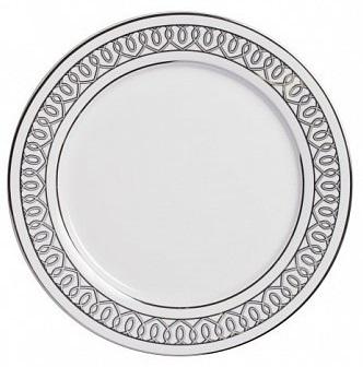 Тарелка PrincessТарелки<br><br><br>Цвет: белый\серый<br>Материал: Китайский фарфор<br>Вес кг: 0,3<br>Длина см: 25<br>Ширина см: 25<br>Высота см: 1