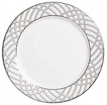 Тарелка Lines, DG-DW-PL07Тарелки и комплекты тарелок<br>Тарелка классической формы изготовлена <br>из фарфора белого цвета с нанесением по <br>краю геометрического орнамента в сером <br>цвете. Тарелка декорирована весьма элегантно, <br>и заслуживает внимания покупателей. Тарелку <br>можно приобрести отдельно или в комплекте <br>с другими столовыми предметами из серии.<br><br>Цвет: None<br>Материал: None<br>Вес кг: 0.3