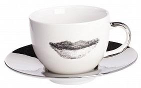 Купить Чайная пара Пьерро Форназетти Faces Silver в интернет магазине дизайнерской мебели и аксессуаров для дома и дачи