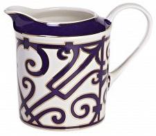 Молочник Violet DreamsМолочники<br>В состав классического чайного сервиза <br>обязательно входит молочник. Согласно легенде <br>чай с молоком ввела в употребление супруга <br>английского короля Чарльза II Екатерина. <br>Она приказала подавать чай в чашках из тончайшего <br>фарфора. Прислуга, опасаясь, что фарфор <br>может треснуть от кипятка, сначала наливала <br>в чашки молоко и лишь потом — горячий чай. <br>Так появилась традиция пить чай с молоком. <br>Изысканный фарфоровый молочник «Violet Dreams» <br>станет прекрасным дополнением к другим <br>предметам для чаепития серии «Фиолетовые <br>сны».<br><br>Цвет: Белый, Фиолетовый<br>Материал: Костяной фарфор<br>Вес кг: 0,2<br>Длина см: 14<br>Ширина см: 9<br>Высота см: 12