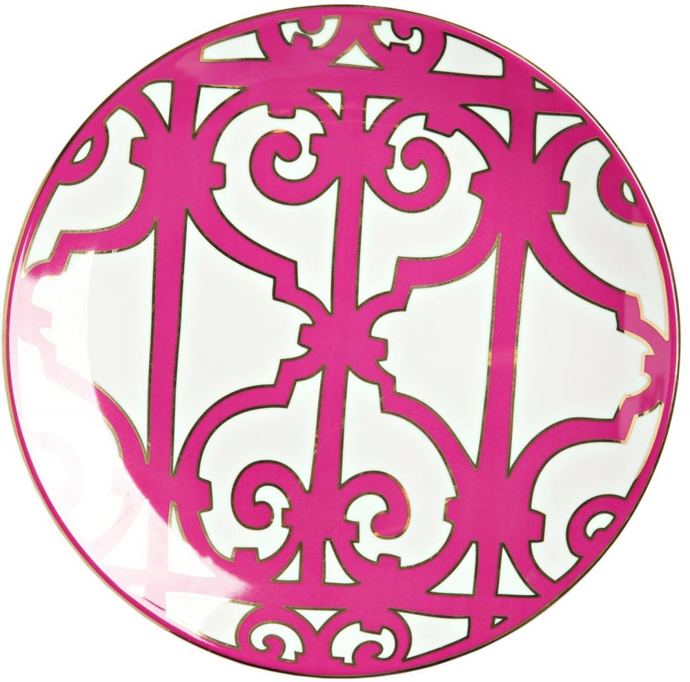 Блюдо SiennaБлюда<br>Эффектная обеденная тарелка Sienna выполнена <br>из белоснежного костяного фарфора и украшена <br>оригинальным рисунком насыщенного лилового <br>цвета. Яркий орнамент придает изделию нарядный <br>и праздничный вид. Тарелка предназначена <br>для закусок, салатов и главных блюд. Она <br>идеально подходит для праздничной сервировки. <br>Вы можете приобрести ее отдельно или вместе <br>с другими предметами коллекции Sienna.<br><br>Цвет: розовый, белый<br>Материал: Костяной фарфор<br>Вес кг: 0,4<br>Длина см: 31<br>Ширина см: 31<br>Высота см: 1,5