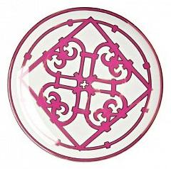 Тарелка Sienna МалаяТарелки<br>Классическая плоская тарелка для закусок <br>и вторых блюд коллекции «Sienna» выполнена <br>из тончайшего костяного фарфора и декорирована <br>ярким геометрическим орнаментом в стиле <br>модерн (moderne). Сочетание белоснежного фарфора <br>и насыщенного лилового цвета отделки придают <br>изделию оригинальный и праздничный вид. <br>В оформлении коллекции используется несколько <br>видов орнамента, превосходно сочетающихся <br>и дополняющих друг друга. Вы можете приобрести <br>тарелку отдельно или в комплекте с другими <br>предметами серии.<br><br>Цвет: Белый, Розовый<br>Материал: Костяной фарфор<br>Вес кг: 0,2<br>Длина см: 20<br>Ширина см: 20<br>Высота см: 1,5