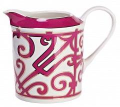 Молочник SiennaМолочники<br>Элегантный молочник из костяного фарфора <br>коллекции «Sienna» создан для любителей классической <br>чайной церемонии. Простая строгая форма <br>изделия сочетается с замысловатым лиловым <br>орнаментом в стиле модерн (moderne). Изящная <br>ручка позволяет удобно удерживать молочник <br>в руке, а носик сконструирован таким образом, <br>чтобы не дать молоку пролиться. Изделия <br>данной серии придают сервировке особую <br>тожественность и благородство. Идеальная <br>белизна фарфора удачно контрастирует с <br>насыщенной и яркой отделкой. Вы можете приобрести <br>молочник отдельно, а также в комплекте с <br>другими предметами коллекции «Sienna».<br><br>Цвет: Белый, Розовый<br>Материал: Костяной фарфор<br>Вес кг: 0,2<br>Длина см: 14<br>Ширина см: 9<br>Высота см: 12