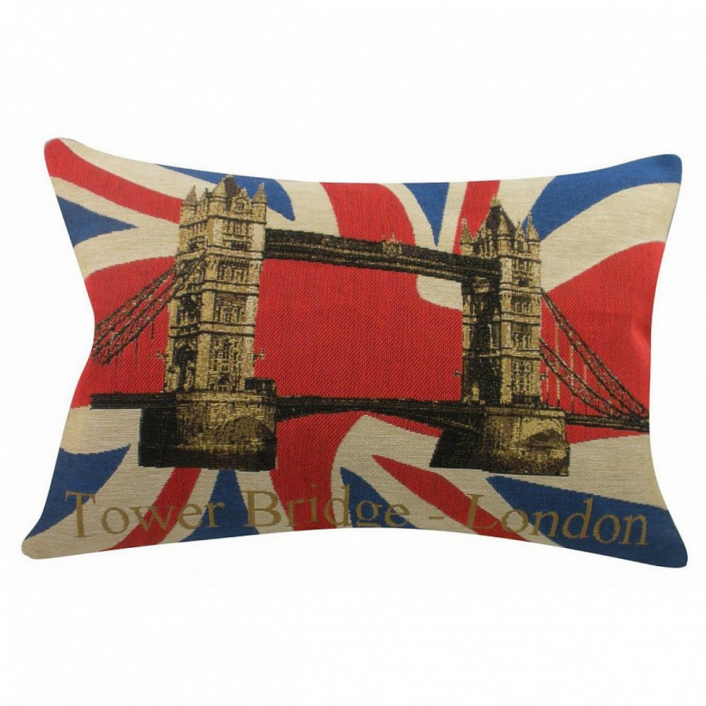 Подушка с Тауэрским мостом Tower BridgeПодушки<br>Подушка с Тауэрским мостом в Лондоне на <br>фоне британского флага Tower Bridge — удлинённой <br>формы, чехол — из 100% хлопка. Мягкий и упругий <br>наполнитель, хорошо поддерживает спину, <br>помогает расслабиться и принять удобную <br>позу, обеспечивает крепкий сон. Подушка <br>может быть использована в качестве аксессуара <br>для декора, а также будет отличным сувениром <br>и оригинальным подарком любителю английской <br>атрибутики .<br><br>Цвет: Синий, Красный, Золото<br>Материал: Наполнитель - 100% полиэстер, чехол для подушки <br>Вес кг: 1<br>Длина см: 46<br>Ширина см: 33<br>Высота см: 10