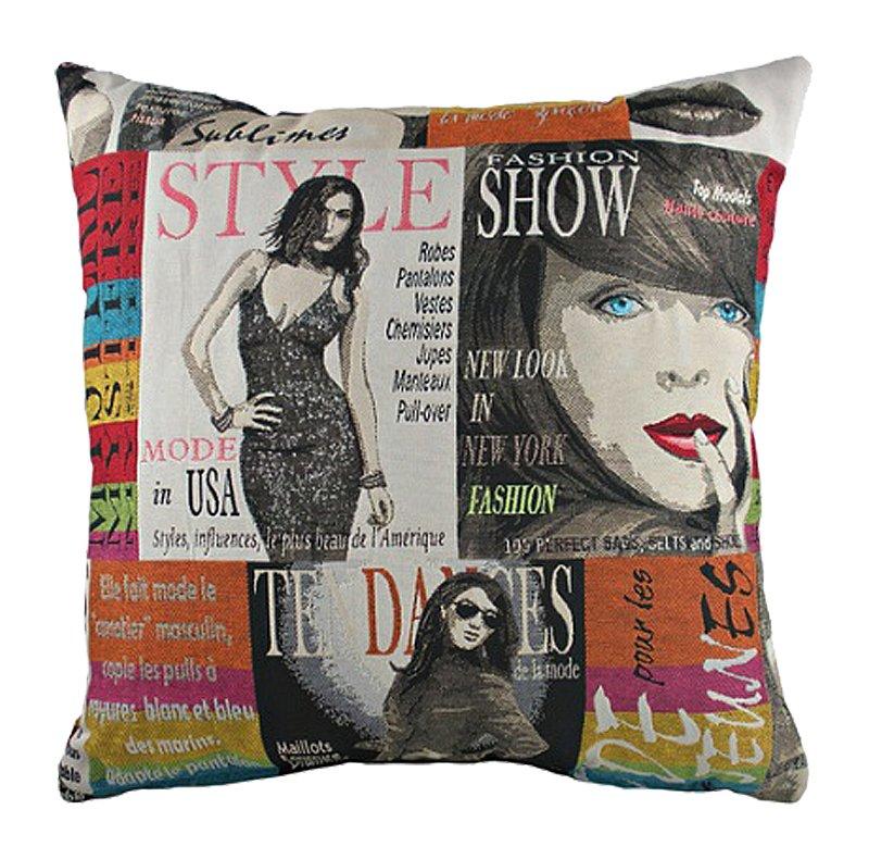 Купить Подушка с картинкой Fashion в интернет магазине дизайнерской мебели и аксессуаров для дома и дачи