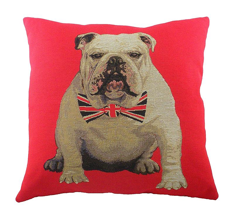 Купить Подушка с английским бульдогом Bulldog в интернет магазине дизайнерской мебели и аксессуаров для дома и дачи