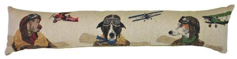 Купить Подушка с собаками-пилотами Doggie Fighters в интернет магазине дизайнерской мебели и аксессуаров для дома и дачи