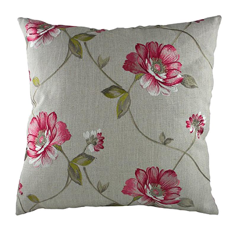 Подушка с цветочным орнаментом Pink Flowers